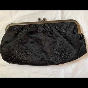 New Express Retired Satin Beaded Clutch Holidays